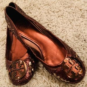 Tory Burch Sequin Reva Flats